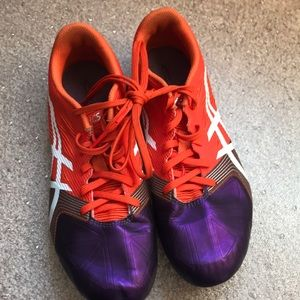 Track and field shoes.